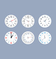 clocks round wall watches flat collection symbols vector image vector image