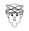 crazy man cartoon vector image