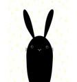 cute cartoon rabbit scandinavian design vector image