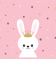 cute princess bunny vector image