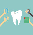dentist treats teeth vector image vector image
