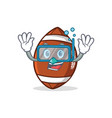 diving american football character cartoon vector image vector image