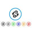 dollar litecoin exchange rounded icon vector image