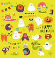 funny cartoon ghosts and monsters halloween vector image vector image