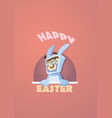 funny man in rabbit suit vector image vector image