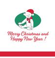 Gift Card with Teddy Bear Merry Christmas vector image vector image