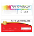 gift voucher template retro vintage design 00022 vector image vector image