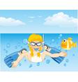 girl dives in ocean vector image vector image