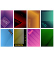 graphic cover design set in eight variations vector image