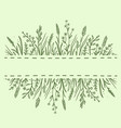 green background with herbs and flowers vector image vector image