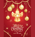 Greeting card christmas angel