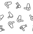 hair dryer appliance seamless pattern vector image vector image
