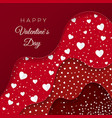 happy valentines day greeting card red layers vector image