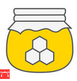 honey jar color line icon rosh hashanah and hive vector image vector image