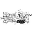 how to find a better you in your current career vector image vector image