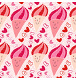 ice cream seamless pattern sweet doodle texture vector image vector image
