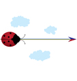 ladybird rainbow and arrow vector image vector image