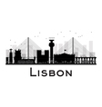 lisbon silhouette vector image vector image