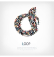 loop people sign 3d vector image vector image