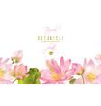 lotus flower banner vector image vector image
