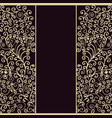 luxury style greeting crad design template with vector image vector image