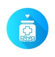 medical aid flat design long shadow glyph icon vector image vector image