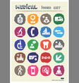 Medical web icons set drawn by chalk vector image vector image