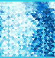 modern blue abstract background with triangles vector image