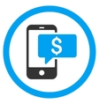 Money Phone SMS Rounded Icon vector image