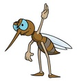 Mosquito With Raised Hand vector image vector image