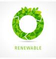 o renewable green logo vector image