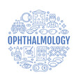 ophthalmology eyes health care circle porter with vector image vector image