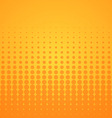 Orange Halftone Pattern vector image