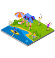 outdoor activities composition vector image vector image
