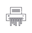 paper shredder line icon concept paper shredder vector image vector image