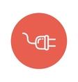 Plug thin line icon vector image