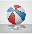 realistic basketball ball draw vector image