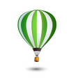 realistic hot air balloon isolated on white vector image