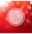 Red Background With Bokeh And Sphere vector image vector image