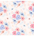 seamless floral pattern with cosmos flowers vector image vector image