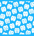 seamless pattern with happy teeth vector image vector image
