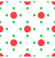 seamless pattern with red and green polka dots vector image vector image
