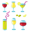 Set of glasses for wine vector image