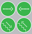 set of icons with pointers vector image vector image