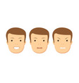 set of male facial emotions vector image vector image