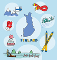 set of national profile of the finland vector image vector image