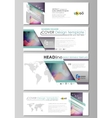 Social media and email headers set modern banners vector image vector image
