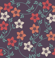 Stylish seamless pattern with decorative flowers vector image vector image
