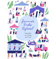 summer indie festival colorful promo poster vector image vector image