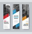 templates for vertical web banners with diagonal vector image